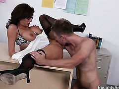 Danny Wylde makes his rock solid schlong disappear in adorable Veronica Avluvs pussy hole