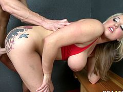 Attractive tattoed bitch with nice ass Dayna Vendetta gets drilled hard