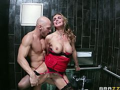 Watch Tanya Tate end up with her face covered by semen after being fucked silly by this dude's big fat cock.
