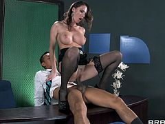 Jennifer Dark is eaten out and fucked by a horny stud