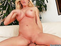 Amber Lynn with giant tits fucks a lot with horny dude Dane Cross before getting enough