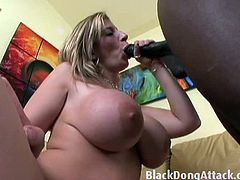 Byron Long is mesmerized by milf Sara Jay's massive jugs and by her generous curves. It doesn't take long for him to bang her cunt rough with his stiff rod.
