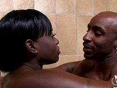 What can double your relaxing moments? After a quick relaxing bath with her lover, horny Coco is in for more dirty activities. The atmosphere gets hotter as the couple moves on the couch where magic tricks with a lusty cunt and a big black dick soon begin. Watch the slutty ebony bitch riding cock!