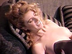 Insatiable light haired jade attacked throbbing kitty of her lusty kooky in black stocking and licked it with pleasure and passion. Just enjoy that dirty lesbian sex in The Classic Porn sex clip!