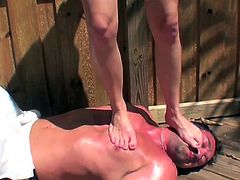 Nothing gets her more horny that dominating her obedient partner in rough outdoor femdomg erotic scene