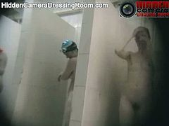 Hidden Camera Dressing Room brings you a hell of a free porn video where a hidden camera takes you to the women's shower room. These belles don't know anything!