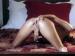 Celeste Star is fantastically seductive girl with incredibly talent to perform high quality sex scenes. Celeste Star fondles her pussy sensually showing her pink punani in closeup shot.