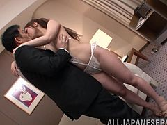 Gorgeous cowgirl moans as he asslick her after licking her feet then she gives him a blowjob before screwing her doggy style