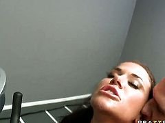 Johnny Sins buries his hard love wand in warm Savannah Sterns muff pie