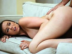 Capri Anderson shows some pretty amazing skills to her horny boyfriend. It all starts with some passionate kissing, but soon she started to ride his cock like a pro!