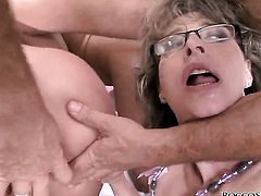 Melanie Memphis opens her mouth invitingly in blowjob action with Rocco Siffredi after ass fucking
