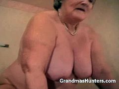 Chubby granny rides her man's cock into heaven