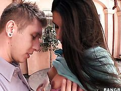 Nikki Daniels makes her sex fantasies a reality with dudes hard love torpedo in hands