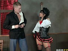 Make sure you have a look at this hardcore scene where the sexy Rose Monroe is fucked on top of a poker table until she makes his guy cum.