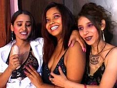 Indian - Three girls playing together