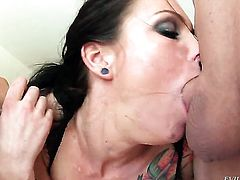 Lucky Starr loves the way Jonni Darkko moves his love torpedo back and forth inside her mouth
