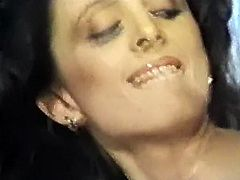 Lusty black haired hoe with massive button and in black stockings lied sideways pose and got fucked right away. Look at that kinky MILF in The Classic Porn sex clip!