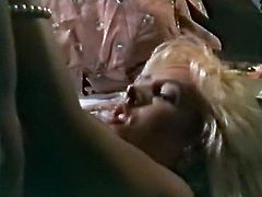 Light haired seductive tootsie with big boobs enjoyed getting her wet pussy pounded in missionary pose in her bed. But after that she got her breasted poured with pees of that brutal freak...Look at that strange sex in The Classic Porn sex video!