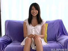 Press play on this solo scene and take a look at Japanese teen Chizuru Sakura's amazing body as she takes off her clothes.