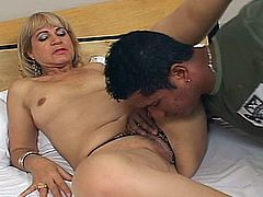 Chamara from Milfs Ultra is in for a harsh fuck along black hunk needy to crack her cherry in hardcore