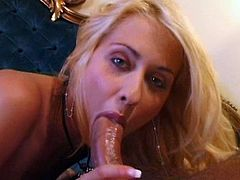 Click to watch this blonde babe, with natural boobs wearing nylon stockings, while she goes hardcore with a lusty guy and moans loudly.