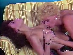 Curly and blond haired filth eats saggy pussy of her brunette kooky. Fuck starving guy looks at that steamy cunnilingus and eagers his cock to be sucked as well. Watch that shameless lesbians in The Classic Porn sex clip!