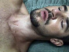 Dean Monroe is a horny hunk and he is ready to pull his meaty cock out for you. He starts to jerk it off slowly and wants to shoot a messy load on his abs.