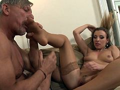 It's time for young cutie to have horny step dad slamming his dick all the way her creamy butt hole
