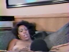 Feverish African freak attacked wet and a bit smelly vagina of that busty black hooker and ate it with great passion. Look at that hot pussy hunter in The Classic Porn sex clip!