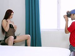Steamy redhead is in for a harsh moment while enjoying a big dong cracking her butt hole during top anal