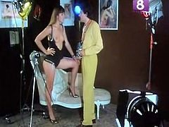 That kinky black and short haired jade in sexy white stockings trailed her dude on fresh air and got her kitty fingerfucked a bit ...Watch that hot sex in The Classic Porn sex video!