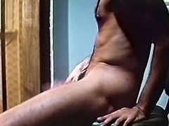 Big assed filthy hottie in white crotchless panties lied with legs spread apart and hammered her kitty with that big dildo. Later her kooky granted her hard doggy fuck. Watch that dirty lesbo sex in The Classic Porn sex video!