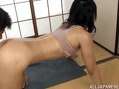 This hot mature Asian babe with an amazing body gets her yummy asshole licked and her sweet pussy fucked hard doggysytyle.