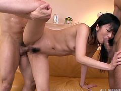 Haruki Satou and her nasty friends are down on the floor getting drilled like never before. See these horny people as they fuck in the kinkiest Asian orgies you have ever seen.