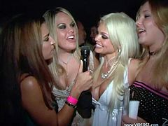 All these girls love to party from dusk to dawn. They dance and do some other stuff people usually do in night clubs.