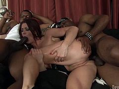 To say that this chick loves big black cocks would be an understatement. Shapely chick loves to fuck and suck black dudes and take their creampies. Press play and get ready for the hottest interracial sex video ever.