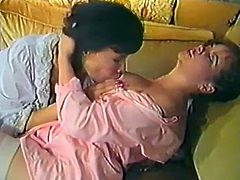 Back and curly haired lesbo wench from Asia adores to get her smelly wet kitty licked by zealous white hotties. Take a look at that steamy lesbian fuck in The Classic Porn sex clip!
