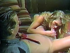 Light haired slender bitch sucks smelly hard cock of her dude in 69 style and gets her moist kitty licked as well. Enjoy that steamy oral sex in The Classic Porn sex clip!