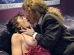 Curly and light haired filth in black jacket posed on knees and set to satisfy her hot brunette kooky with nice cunnilingus. Just enjoy that passionate lesbo sex in The Classic Porn sex video!
