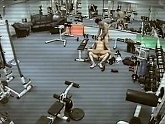 Three some pounding inside A Gym, Watching Themselves inside Bunch Of A Mirrors Around