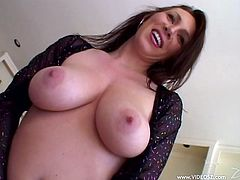 Make sure you take a look at Rayveness' huge natural breasts in this interracial video where this sexy brunette sucks on a black monster cock that drills her asshole.