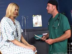 Check out this great hardcore scene where the sexy patient Darryl Hanah is fucked by a horny doctor as you get a boner looking at her sexy body.