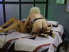 Fuck starving hot chick lies in bed with legs spread apart and enjoys getting her wet pussy licked by that lusty kooky.Watch that dirty lesbo sex in The Classic Porn sex clip!