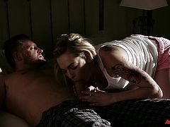 Share this with your friends! Bailey Blue, Jenna J Ross, Maddy O'Reilly and Vanilla Deville go hardcore with steamy dudes in different situations.