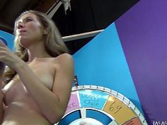 Light haired salacious woman enjoyed getting her pussy fucked in missionary style. Meanwhile she rubbed her pinkish vagina with big dildo. Have a look at that insatiable whore in My XXX Pass porn clip!