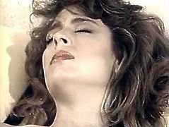 Provocative busty brunette spreads her pussy lips wide open and the sucks two meaty poles attacking her face. She is hell working chick who gives eager blowjob.