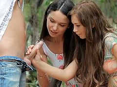 18OnlyGirls brings you a hell of a free porn video where you can see how two kinky brunette teens get banged outdoors while assuming very interesting poses.