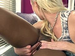 Fuck starving black hoe lies with legs spread apart and gets her moist pussy pleased with fingers and tongue of her gorgeous blond kooky. Take a look at that nice lesbo fuck in Fame Digital porn video!