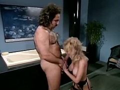 Classic Porn Scenes brings you a hell of a free porn video where you can see how Ron Jeremy bangs this vintage blonde's tight ass into a massively intense anal orgasm.