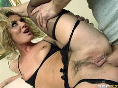 The amazing Sheena Shaw couldn't be happier when she gets her face fucked and her perfect round ass rammed by Bill Bailey's big hard cock.